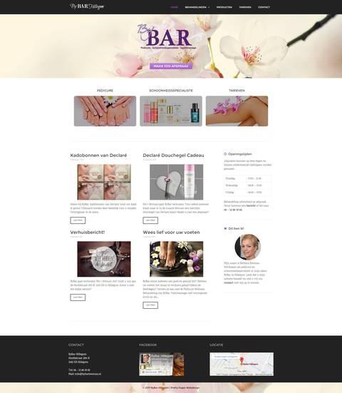 Portfolio | WordPress website schoonheidssalon ByBar gemaakt door Pretty Pages Webdesign Hillegom