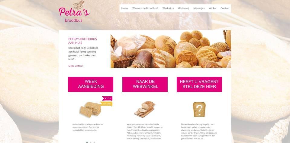 Portfolio | WooCommerce webshop Petra's Broodbus gemaakt door Pretty Pages Webdesign Hillegom