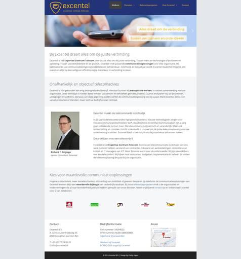 Portfolio | WordPress website Excentel gemaakt door Pretty Pages Webdesign Hillegom