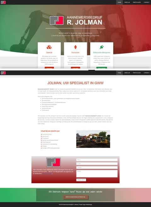 Portfolio | WordPress website Aannemersbedrijf R. Jolman gemaakt door Pretty Pages Webdesign Hillegom