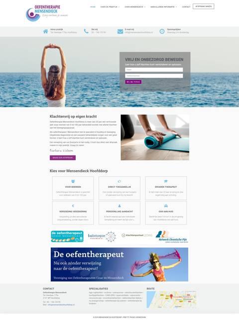 Portfolio | WordPress website Mensendieck Hoofddorp gemaakt door Pretty Pages Webdesign Hillegom