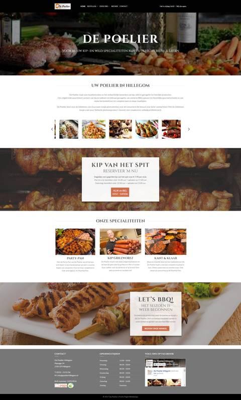 Portfolio | WordPress website De Poelier gemaakt door Pretty Pages Webdesign Hillegom