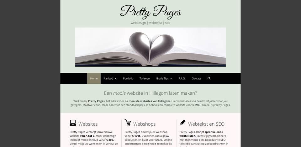 Portfolio | WordPress website gemaakt door Pretty Pages Webdesign Hillegom