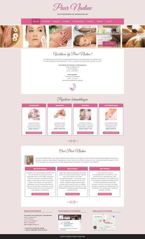 Portfolio | WordPress website Puur Nadine gemaakt door Pretty Pages Webdesign Hillegom