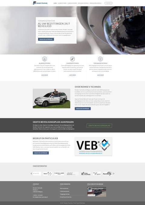 Portfolio | WordPress website Romke's Techniek gemaakt door Pretty Pages Webdesign Hillegom