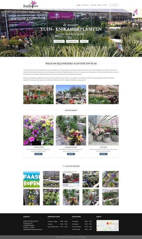 Portfolio   WordPress website Jonkheer Plantencentrum gemaakt door Pretty Pages Webdesign Hillegom