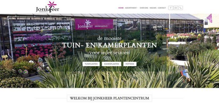 Portfolio | WordPress website Jonkheer Plantencentrum gemaakt door Pretty Pages Webdesign Hillegom