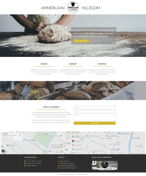 Portfolio | WordPress website Ammerlaan Hillegom gemaakt door Pretty Pages Webdesign Hillegom