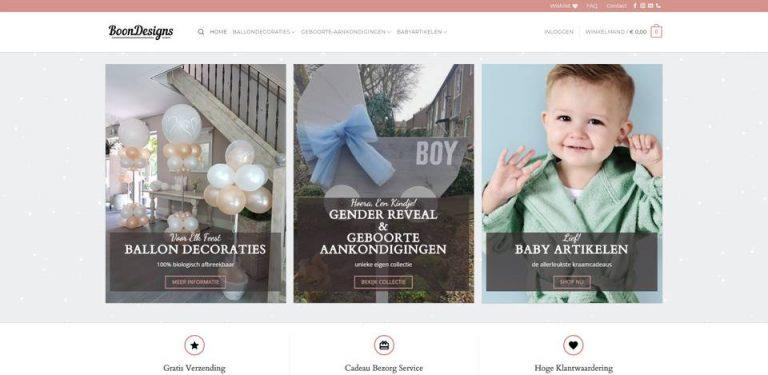 Portfolio | WordPress website BoonDesigns gemaakt door Pretty Pages Webdesign Hillegom