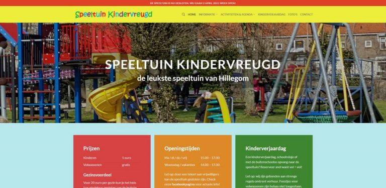 Portfolio | WordPress website Speeltuin Kindervreugd gemaakt door Pretty Pages Webdesign Hillegom