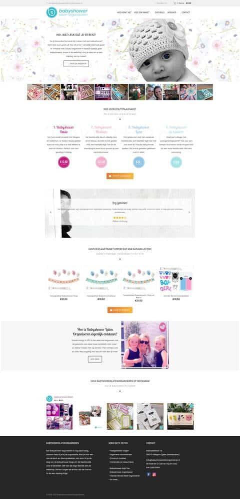 Portfolio | WordPress website BabyShowerLatenOraniseren gemaakt door Pretty Pages Webdesign Hillegom