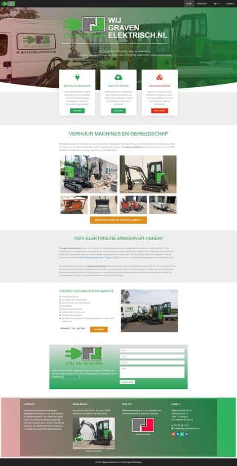 Portfolio | WordPress website Wijgravenelektrisch gemaakt door Pretty Pages Webdesign Hillegom