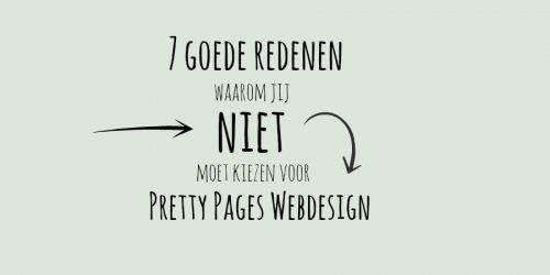 7 redenen om NIET voor Pretty Pages te kiezen