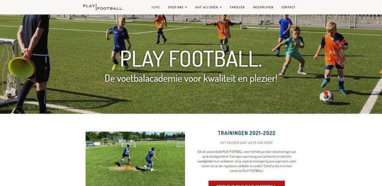 Portfolio   WordPress website Play Football gemaakt door Pretty Pages Webdesign Hillegom